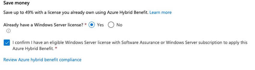 creación de VM en Azure Files