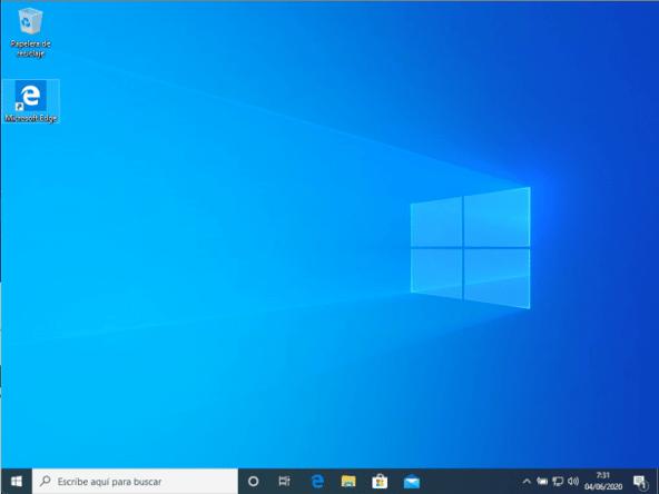 Equipo Windows antes de pasar por la configuración de Intune