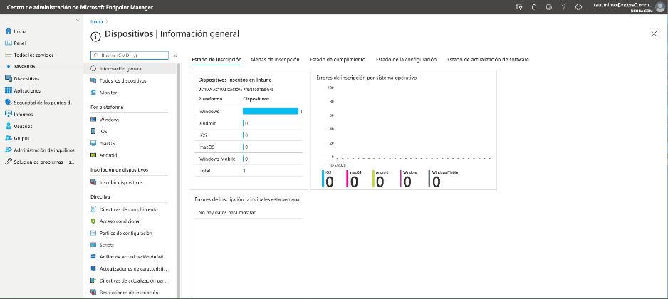 Gestión de Dispositivos de Endpoint Manager con Intune