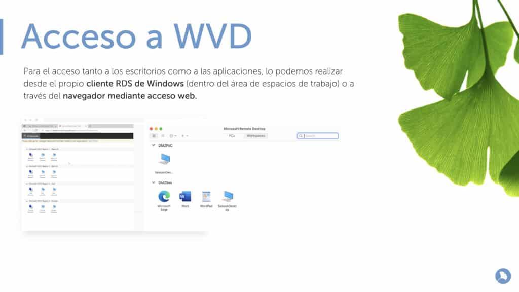 Acceso a Azure Virtual Desktop