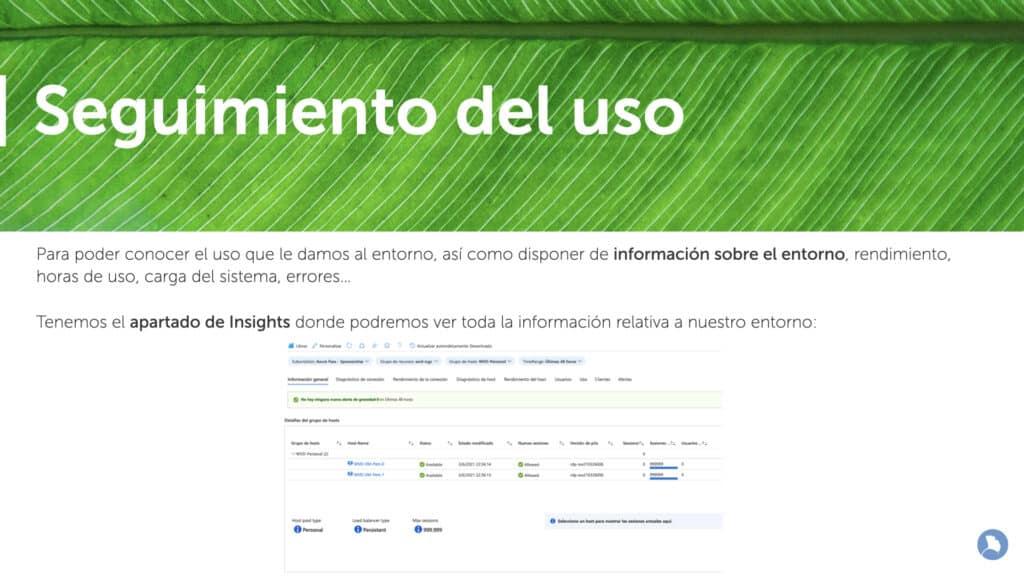 Seguimientos de uso de Windows Virtual Desktop